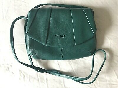 Osprey Leather Bag Teal Green Jade Cross Body Small