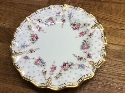 Crown Derby Royal Antoinette 8 Inch Fluted Plate , Freepost