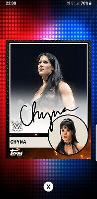 Topps WWE Slam Digital Card Chyna metal heritage signature 2019
