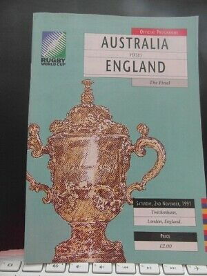 1991 World Cup Final England V Australia   Rugby Union Programme