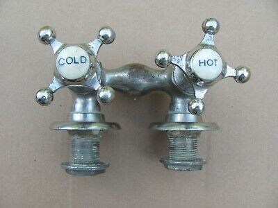 Vintage Hot & Cold Faucet For 1919 Tub.