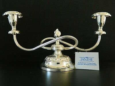 Ianthe Silver Plated Candle Holder Made In England