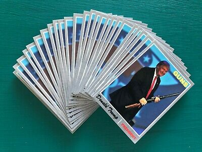 (25) DONALD TRUMP Baseball Cards MAGA USA President AR Guns NRA Rifle Dealer Lot