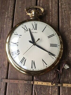 Vintage United Electric Wall Clock, Pocket Watch style, model 40