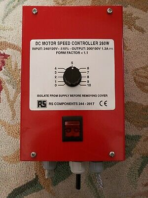 RS COMPONENTS 244-2917 DC MOTOR SPEED CONTROLLER Used