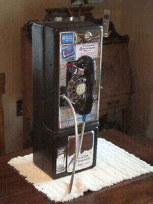 Restored & Really Works Vintage Bell Tel ROTARY New York City Payphone Pay Phone