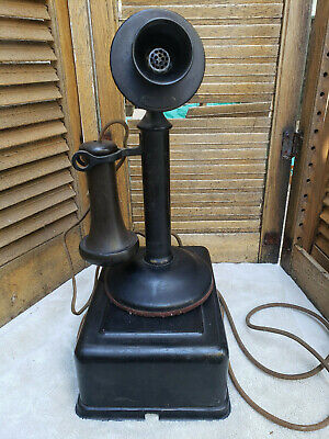 Nice 1920's Western Electric 20AL Candlestick Telephone and ringer box