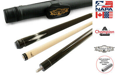 Champion Gator Retired Pool Cue Stick, 60 inch , 5/6x18, Black Case, Bonus Gift