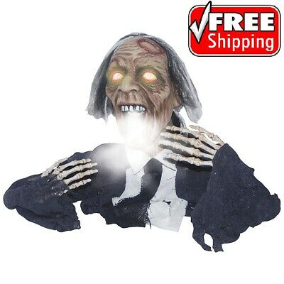 Halloween Decor Animated Zombie Ghoul Ground Breaker Prop Outdoor Decor Fogging