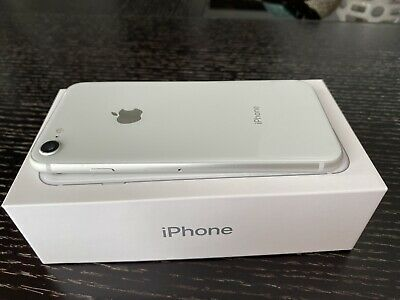 Mint Condition iPhone 8 64GB Unlocked Smartphone Silver White (A1905) In Box GSM
