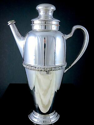 Vintage Wm.ROGERS FINE QUALITY Silverplate MARTINI COCKTAIL SHAKER PITCHER JUG