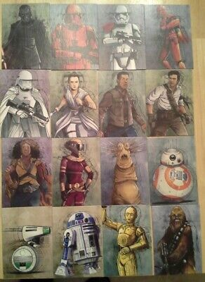 Topps Star Wars Journey to The Rise of Skywalker Illustrated Character singles