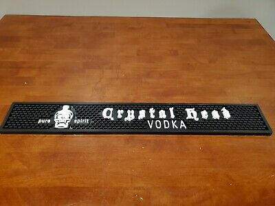 Crystal Head Vodka Skull Rubber Bar Mat - Rare Promo - Officially Licensed