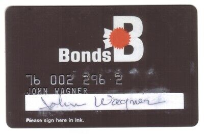 Bonds Stores Regular Size Merchant Credit Card