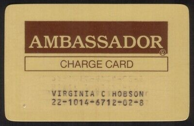 Ambassador Phoenix AZ Regular Size Thin Plastic Merchant Credit Card