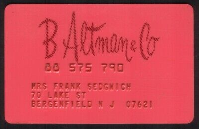 B Altman & Co. Stores Regular Size Merchant Credit Card