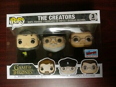 Funko Pop! HBO Game Of Thrones The Creators 3 Pack Official 2018 NYCC Exclusive