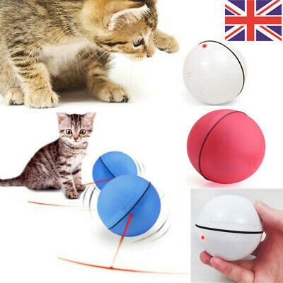 Funny Pet Cat Dog LED Light Laser Ball Teaser Exercise Interactive Automatic Toy