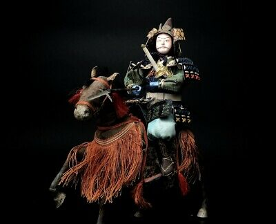 Antique SAMURAI Japanese Warrior MUSHA Armor Suit YOROI NINGYO Horse