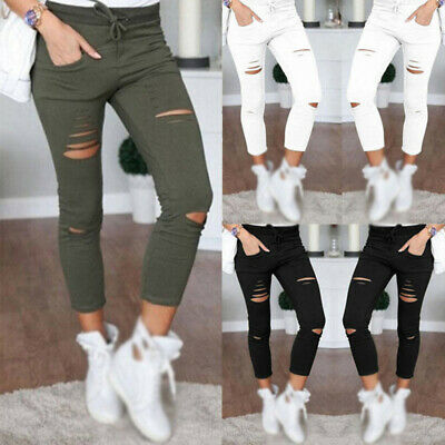 Ladies Pants Girls Fitted Trousers Pants Fashion Solid Bottoms Plus size