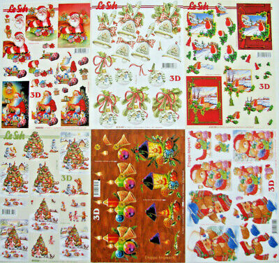 3D Cardmaking/ Decoupage A4 Sheets - Christmas