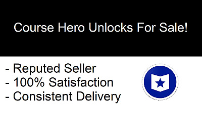 Files for 20 Course Hero Account Unlocks - INSTANT DELIVERY - 24/7
