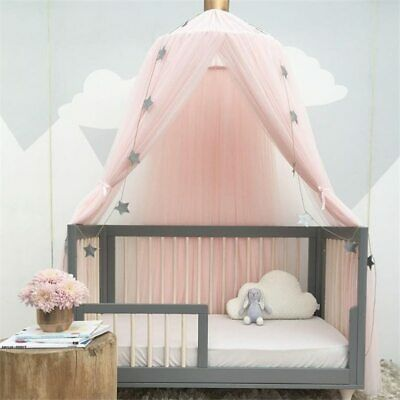 Kids Play Hanging Tent Princess Canopy Bed Baby Crib Crown Round Tent