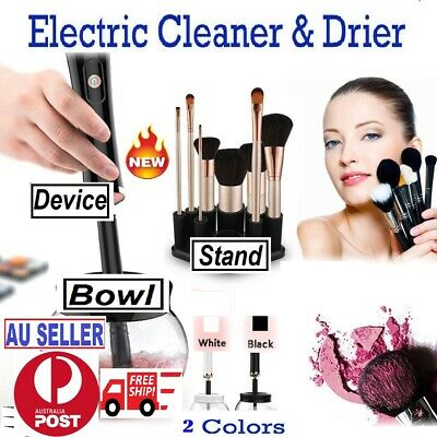 Electric Makeup Brush Cleaner & Dryer Machine Set Includes Brush Collar Stand AU