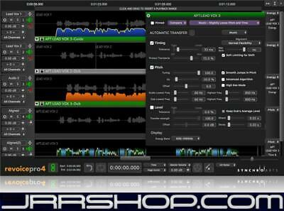 Synchro Arts ReVoice Pro 4.1 Upgrade VocALign Project eDelivery JRR Shop
