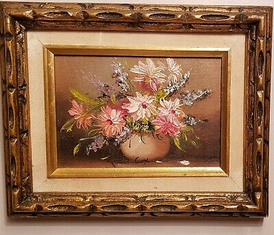 Robert Cox Original Oil Painting Signed Floral Still Life - 8x10 canvas then fra