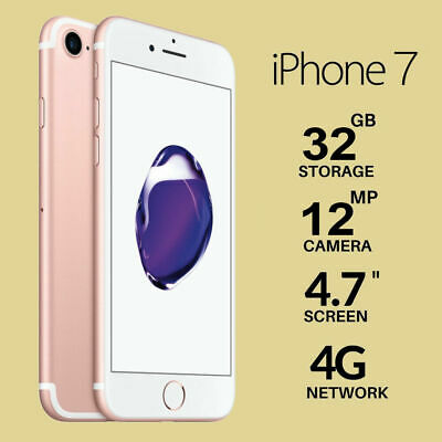 Nuovo Apple iPhone 7 32GB Rosa Gold 12 Mesi Smartphone IT Seller