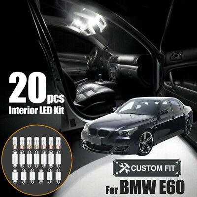 Car Interior Dome Door Glove Box LED Inside Lights Kit CANBUS For BMW 5 Series