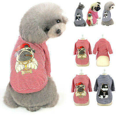 Small Pet Dog Pajamas Cotton Jacket Puppy Cat Vest T-shirt Indoor Home Clothing