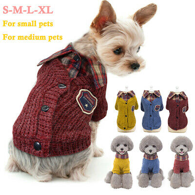 Small Dog Knitted Jumper Knitwear Pet Clothes Chihuahua Puppy Cat Sweater Coat
