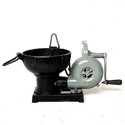 Furnace Forge With Hand Blower Pedal Type Handle Collectible