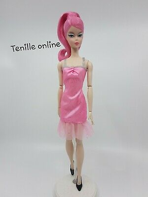 New Barbie doll clothes fashion outfit dress quality light pink silver sparkle