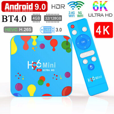 H96 MINI MAX RK3318 H6 USB 3.0 Android 9.0 Quad Core 6K UHD TV Box+Tastiera O0Q0