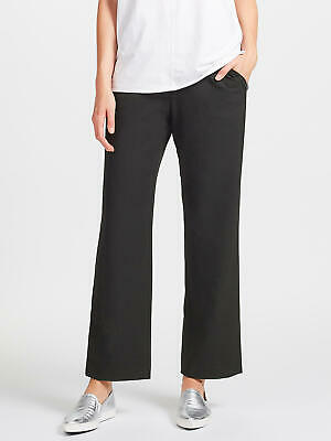 New John Lewis Flannel Easy Pull On Trousers, Black, UK 12, RRP £59