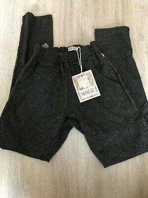 New Wheat Girls Emma Jersey Trousers, Charcoal Grey, Age 10, RRP £40