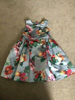 New John Lewis Girls Sleeveless Floral Dress, Prom Party, RRP £35