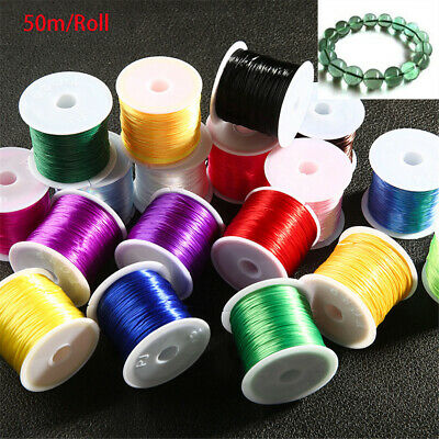 Crafts Necklace Jewelry DIY Thread Crystal Elastic line Beading Cord String