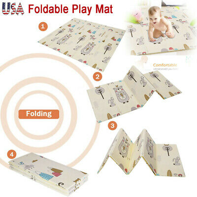 Foldable Play Mat Large Folding Reversible Baby Soft Crawling Mats For Non-toxic
