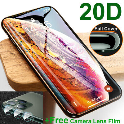 2D Full Cover Tempered Glass Film Screen Protector for iPhone 11 Pro Max XR+Lens