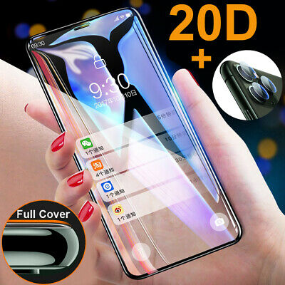 9H Tempered Glass Protective Film for iPhone 11 Pro Max XR Screen Protector+Lens