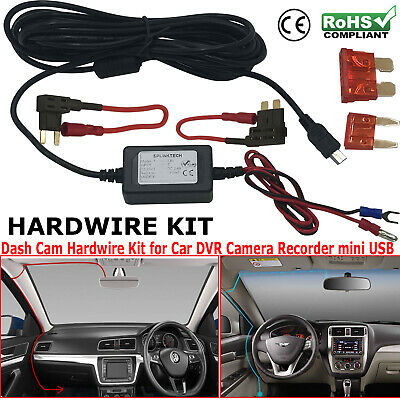 Nextbase Hard Wire Car Mini USB DC Charger Power Kit For DVR Recorder Dash Cam