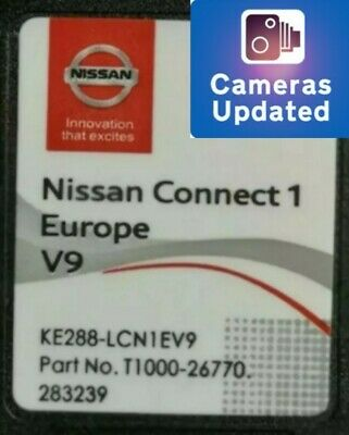 8New*2019/2020 Nissan Connect 1 V9 Nav Sd Card+Speed Camera Info