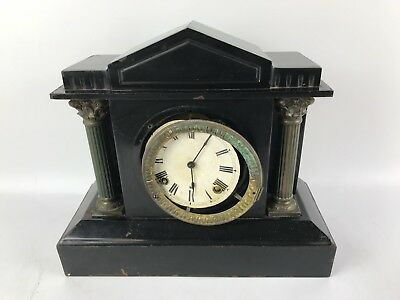 Antique Ansonia clock NY, antique wind up 5 Cast Iron Case For Repair #1492