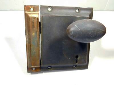 Old Antique Railroad Lock Solid Heavy Cast Brass Signed J L Howard Hartford CT