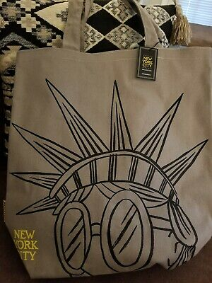 NEW STARBUCKS Collection Fall 2019 New York City Statue Liberty Canvas Tote Bag