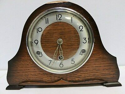 Vintage BENTIMA Wooden Chiming Mantel Clock Made in England  - 250